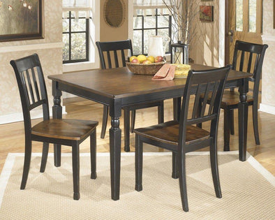 Owingsville - Black/Brown - 5 Pc. - RECT DRM Table & 4 Side Chairs