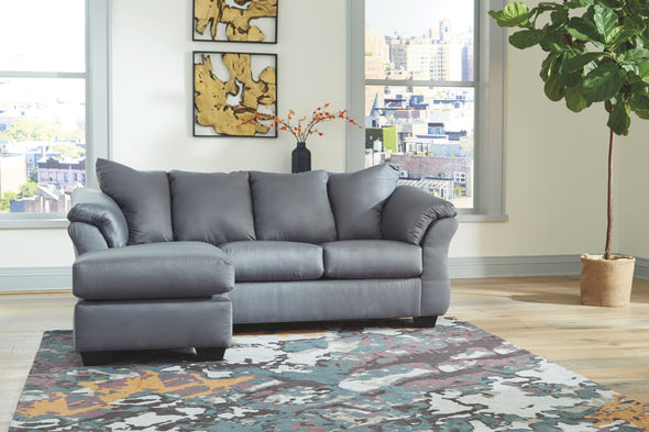 Darcy - Steel - Sofa Chaise