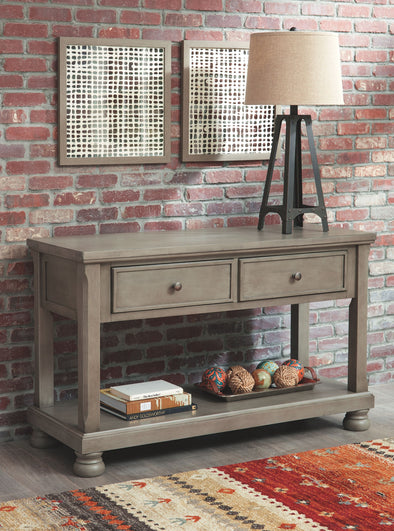 Lettner - Gray - Console Sofa Table
