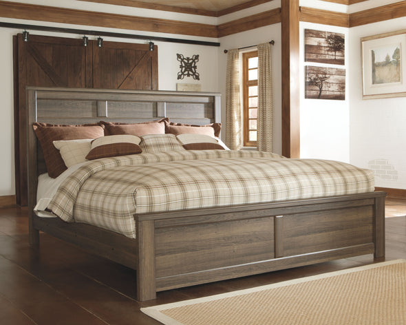 Juararo - Dark Brown -  Panel Bed