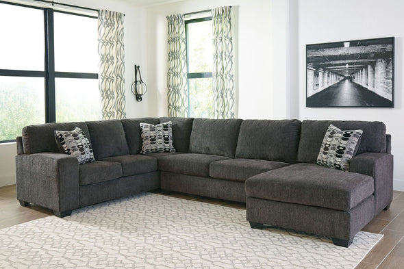 Ballinasloe - Smoke - LAF Sofa, Armless Loveseat & RAF Corner Chaise Sectional