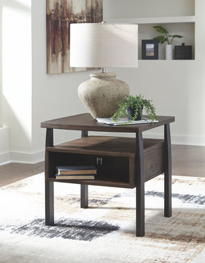 Vailbry - Brown - Rectangular End Table