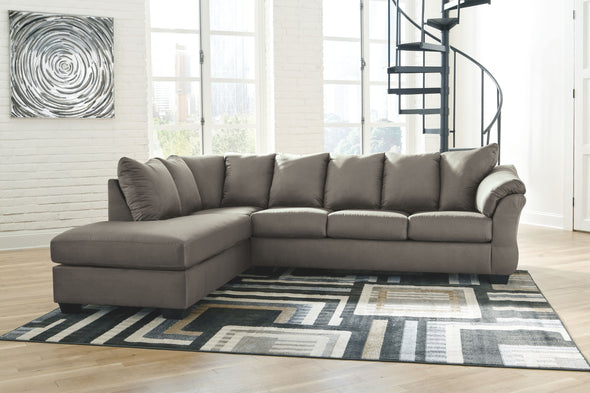 Darcy - Cobblestone - LAF Corner Chaise & RAF Sofa Sectional