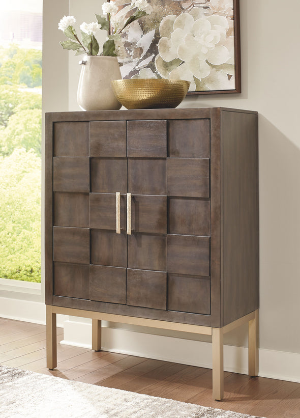 Grantleigh - Brown/Gold Finish - Accent Cabinet
