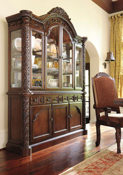 North Shore - Dark Brown - China Cabinet