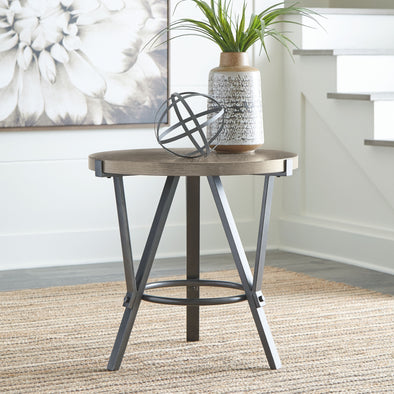 Zontini - White - Round End Table