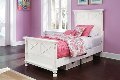 Kaslyn - White -  Panel Bed