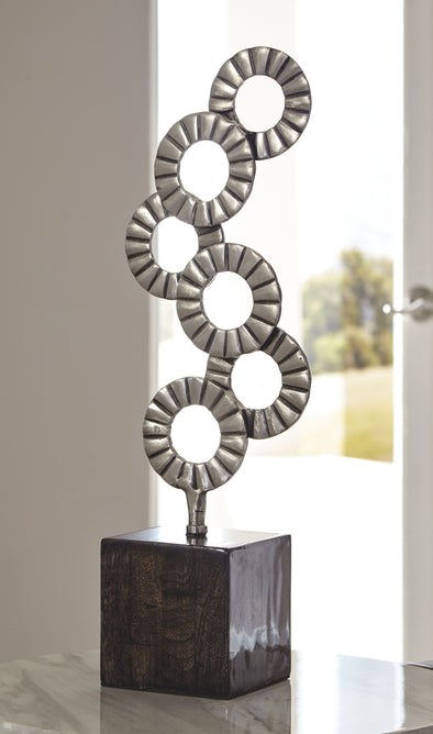Brevyn - Black/Silver Finish - Sculpture