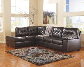 Alliston - Chocolate - LAF Corner Chaise & RAF Sofa Sectional