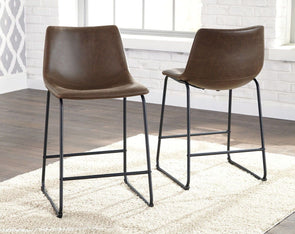 Centiar - Brown/Black - Upholstered Barstool (2/CN)