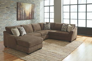 Justyna - Teak - LAF Corner Chaise, Armless Loveseat & RAF Sofa Sectional