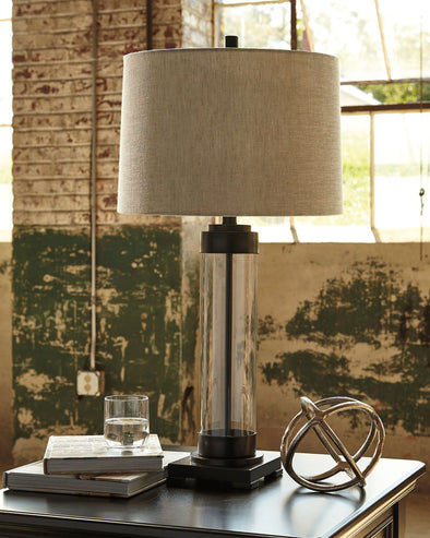 Talar - Clear/Bronze Finish - Glass Table Lamp (1/CN)