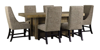 Sommerford - Brown - 7 Pc. - RECT DRM Table, 4 UPH Side Chairs & 2 UPH Arm Chairs