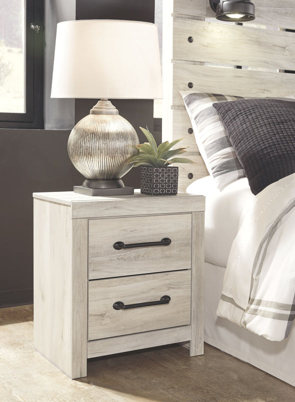 Cambeck - Whitewash - Two Drawer Night Stand