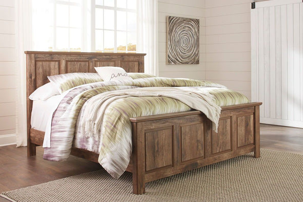 Blaneville - Brown -  Panel Bed