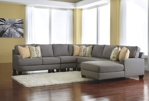 Chamberly - Alloy - LAF Loveseat, Armless Chair, Wedge, Armless Loveseat & RAF Corner Chaise Sectional