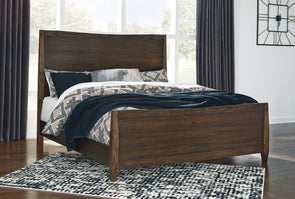 Kisper - Brown -  Panel Bed