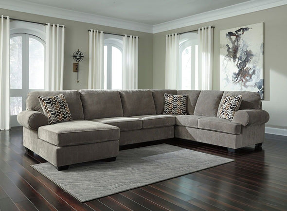 Jinllingsly - Gray - LAF Corner Chaise, Armless Loveseat & RAF Sofa Sectional