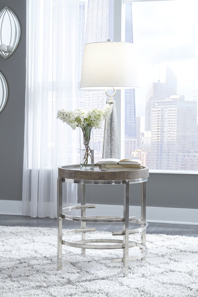 Zinelli - Gray - Round End Table