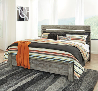 Cazenfeld - Black/Gray -  Panel Bed