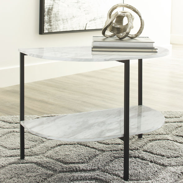 Donnesta - White - Chair Side End Table