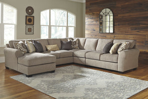 Pantomine - Driftwood - LAF Corner Chaise, Armless Loveseat, Wedge, Armless Chair & RAF Loveseat Sectional