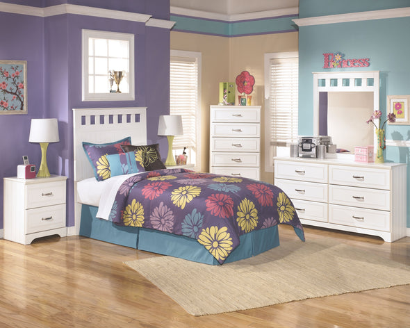 Lulu - White - Two Drawer Night Stand