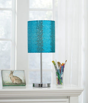 Maddy - Teal/Silver Finish - Metal Table Lamp (1/CN)