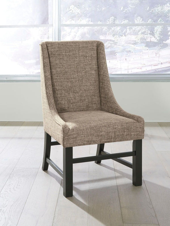 Sommerford - Black/Brown - Dining UPH Arm Chair
