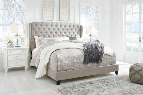 Jerary - Gray -  Upholstered Bed