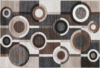 Guintte - Black/Brown/Cream - Medium Rug