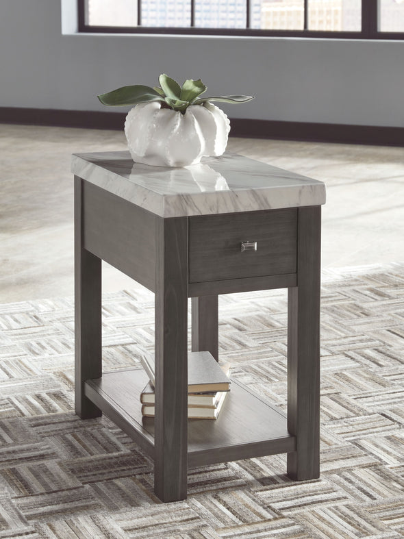 Vineburg - Gray/White - Chair Side End Table