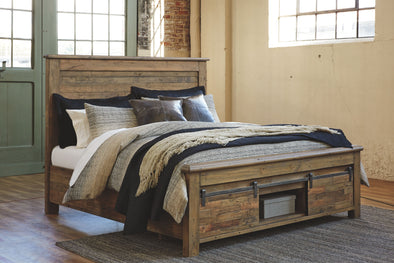 Sommerford - Brown -  Storage Bed