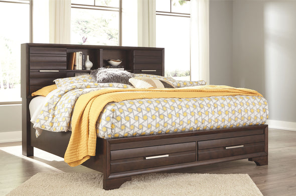 Andriel - Dark Brown -  Storage Bed