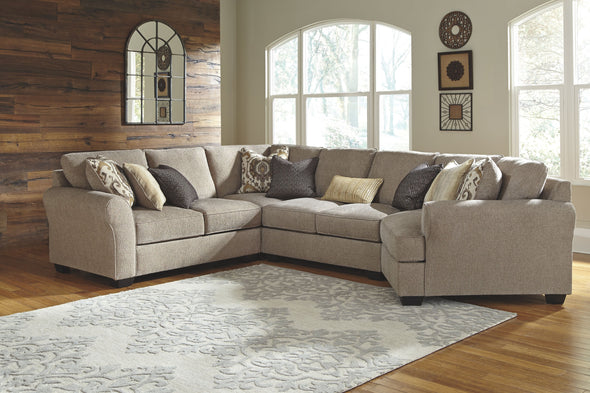 Pantomine - Driftwood - LAF Loveseat, Wedge, Armless Loveseat & RAF Cuddler Sectional