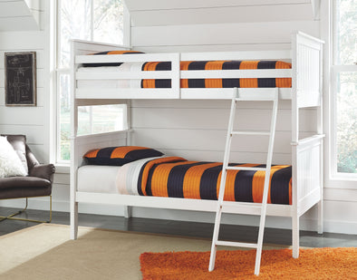 Lulu - White - Twin Bunk Bed Rails and Ladder