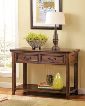 Woodboro - Dark Brown - Sofa Table