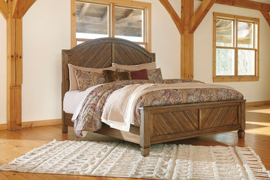 Colestad - Light Brown -  Panel Bed