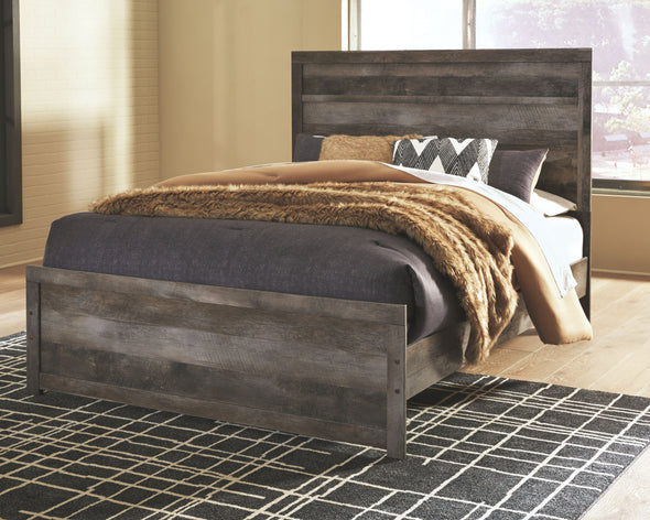 Wynnlow - Gray -  Queen Panel Bed