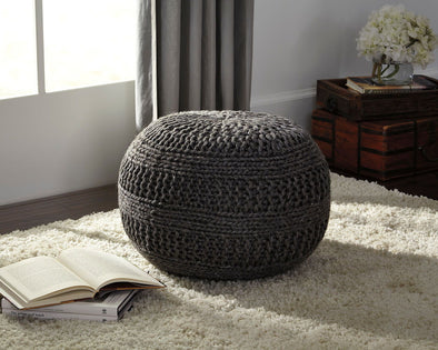 Benedict - Charcoal - Pouf