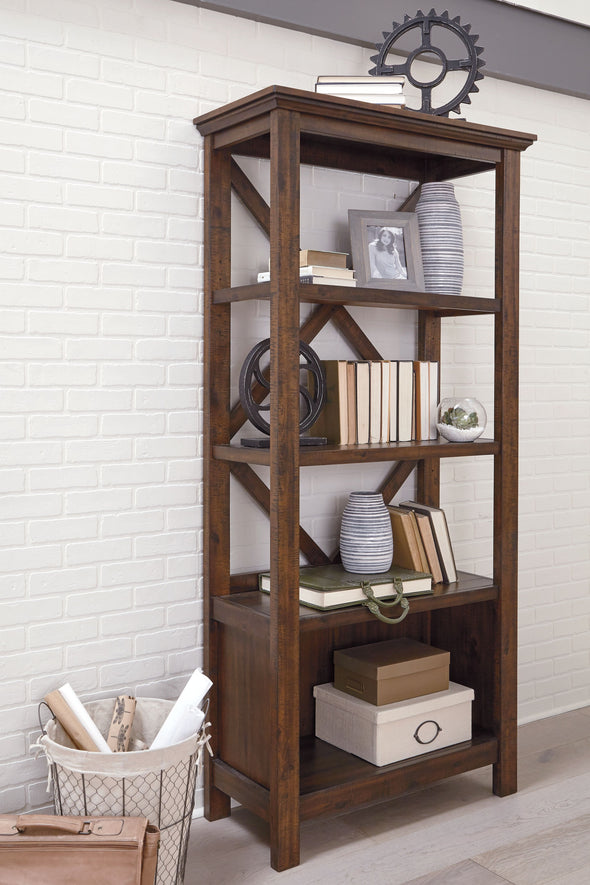 Baldridge - Rustic Brown - Large Bookcase