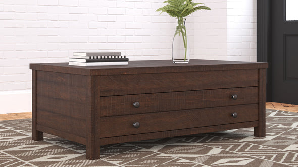 Camiburg - Warm Brown - Rect Lift Top Cocktail Table