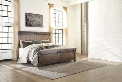 Lakeleigh - Brown -  Panel Bed