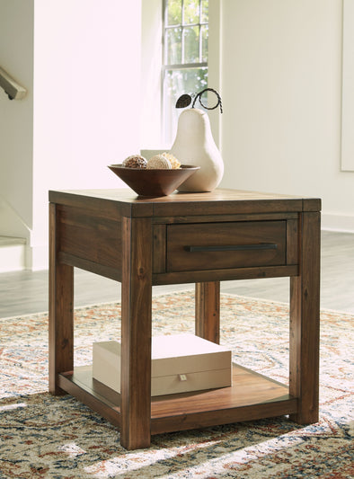 Marleza - Brown - Rectangular End Table