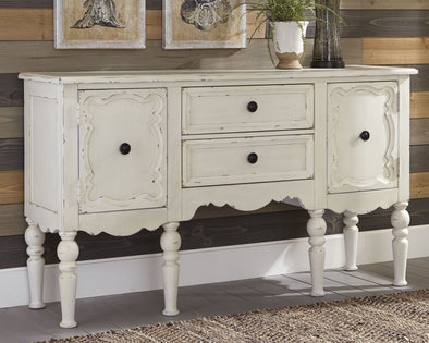 Loumont - Antique White - Accent Cabinet