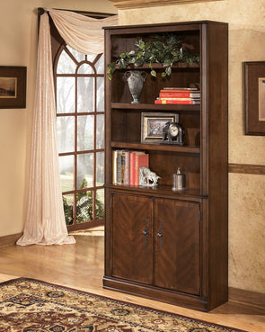 Hamlyn - Medium Brown - Large Door Bookcase