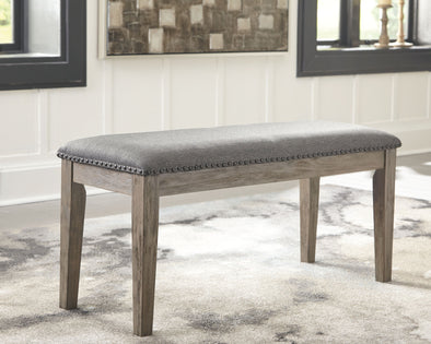 Aldwin - Gray - Upholstered Bench