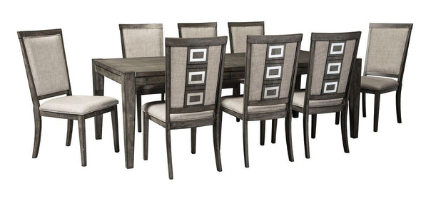 Chadoni - 9 Pc. - RECT Dining Room EXT Table & 8 UPH Side Chairs
