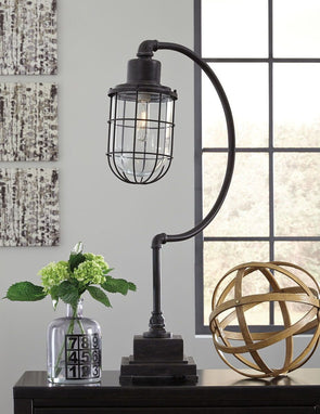 Jae - Antique Black - Metal Desk Lamp (1/CN)