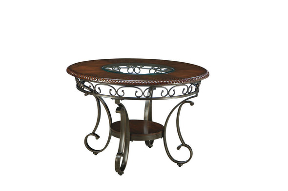 Glambrey - Brown - Round Dining Room Table